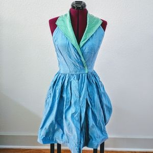 Vintage 70s Reversible Halter dress